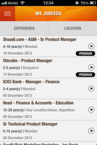 my jobfeed page